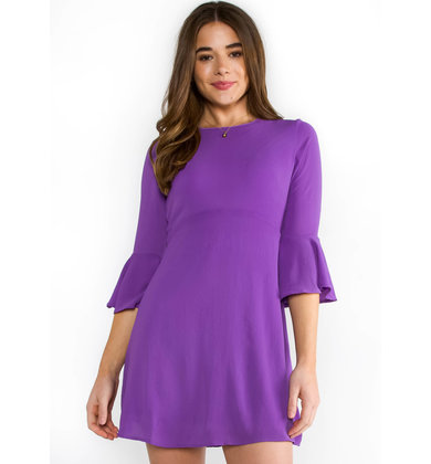 JUST ONE DANCE BELL SLEEVE DRESS
