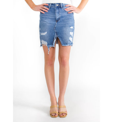 RADIANT SUN DENIM SKIRT