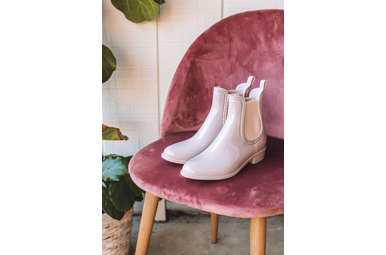 RAIN DANCE RAIN BOOTIES - BLUSH
