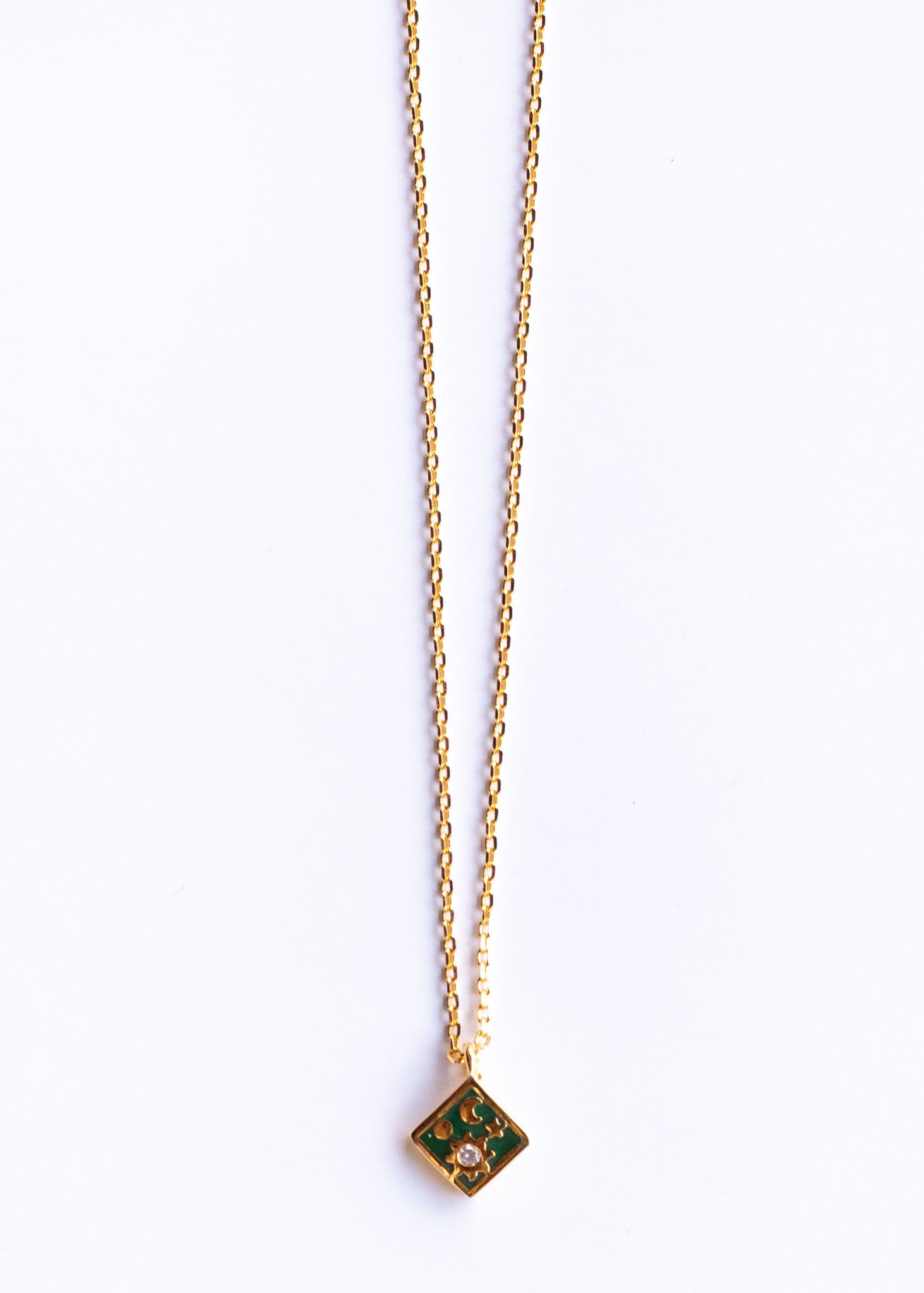 FULL MOON NECKLACE - GREEN