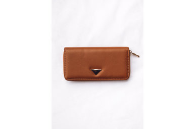 RIGHT ROUND WALLET - BROWN