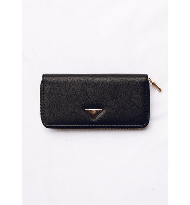 RIGHT ROUND WALLET - BLACK