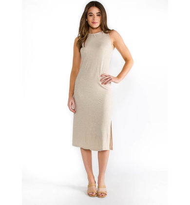 SUN CITY MIDI DRESS - OATMEAL