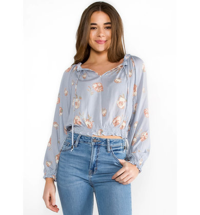 SPRINGTIME FLORAL CROPPED TOP
