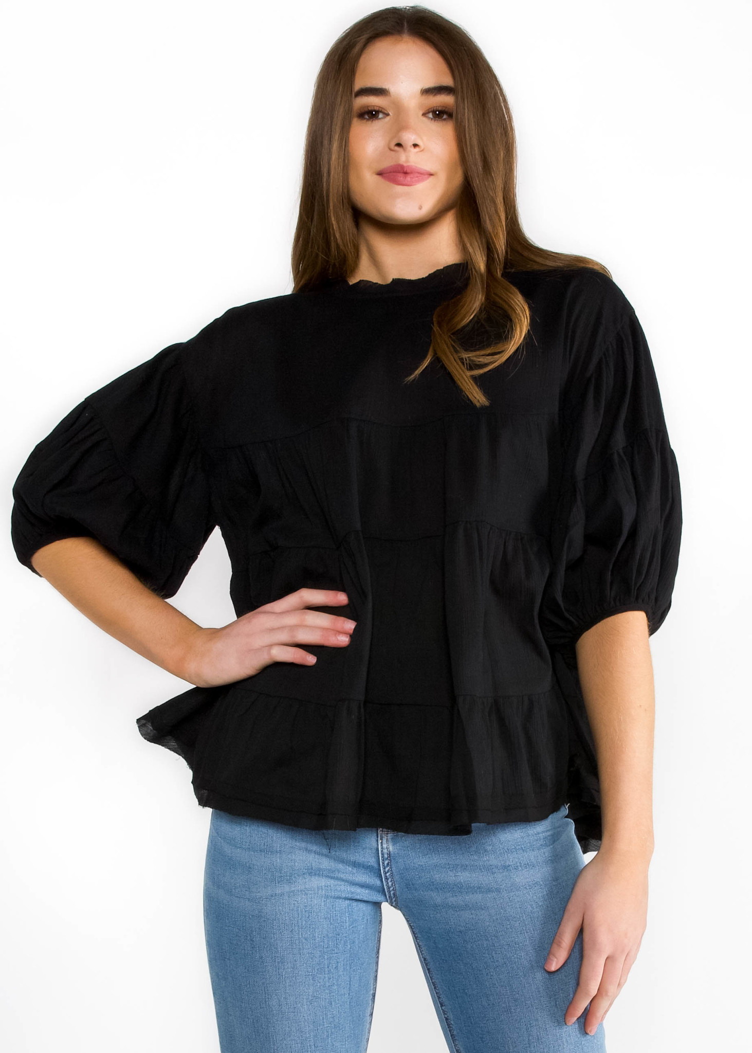 MOSCOW OVERSIZED BABYDOLL TOP