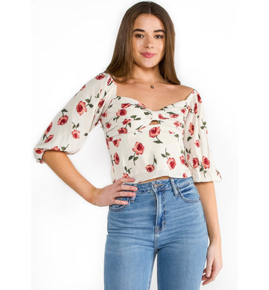 FLORAL FEVER CROP TOP