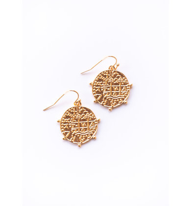 ATHENS GOLD COIN EARRINGS