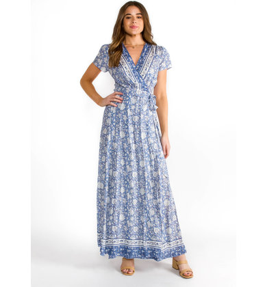 HAPPY TOGETHER MAXI WRAP DRESS