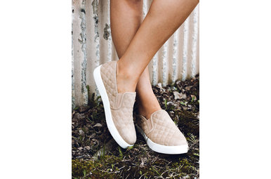ALEXA QUILTED SNEAKERS - TAUPE