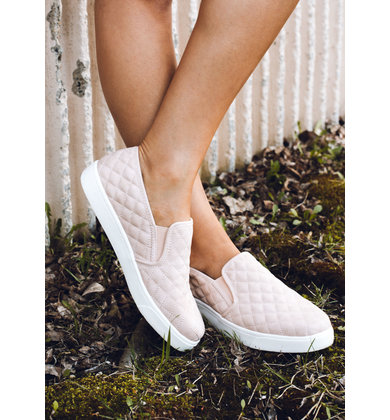 ALEXA QUILTED SNEAKERS - BLUSH