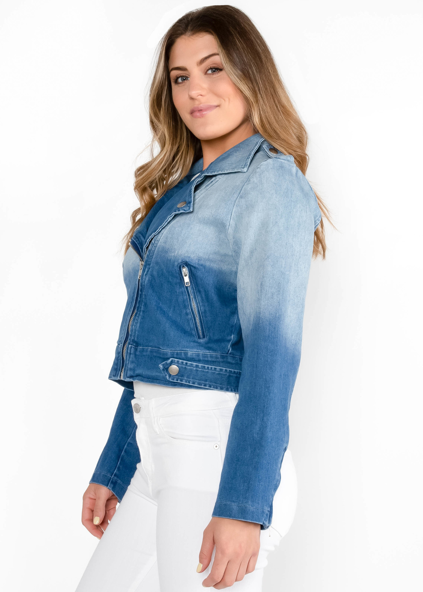 CITY BLOCK OMBRE JEAN JACKET