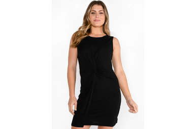GLOW UP KNOTTED DRESS - BLACK