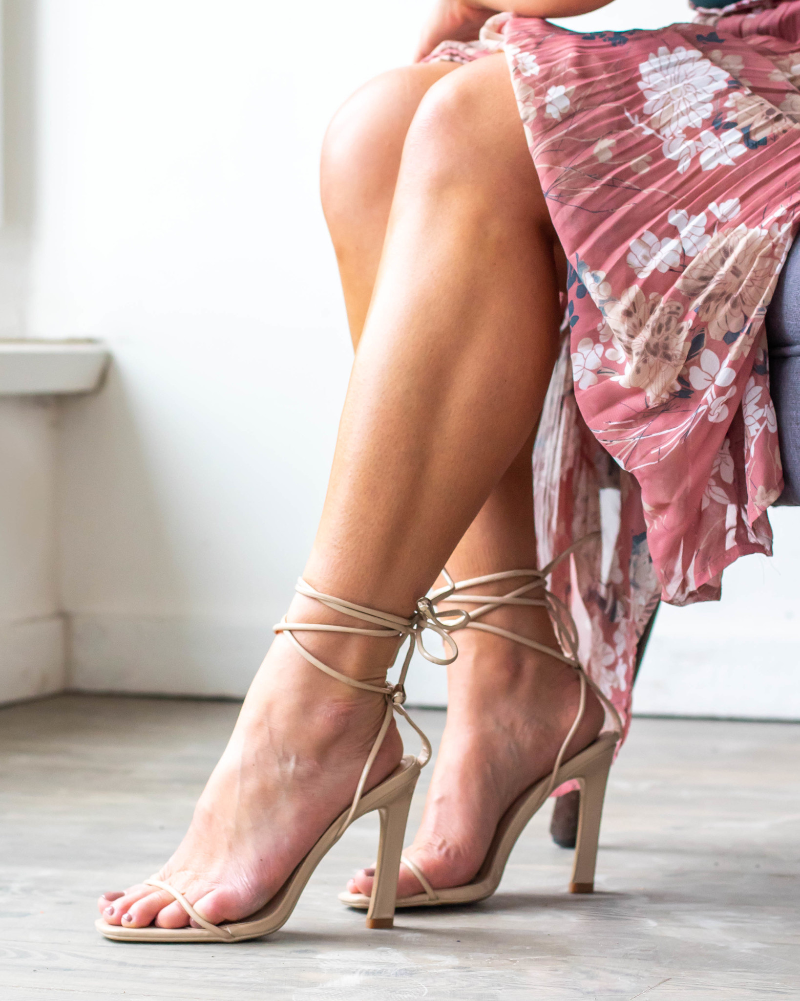 CAST YOUR FATE LACE UP HEELS