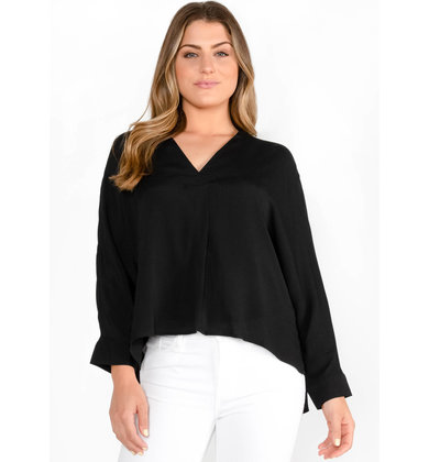 WAVE AFTER WAVE BLOUSE - BLACK