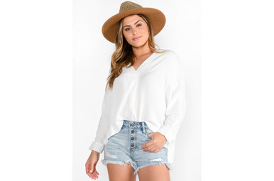 WAVE AFTER WAVE BLOUSE - IVORY