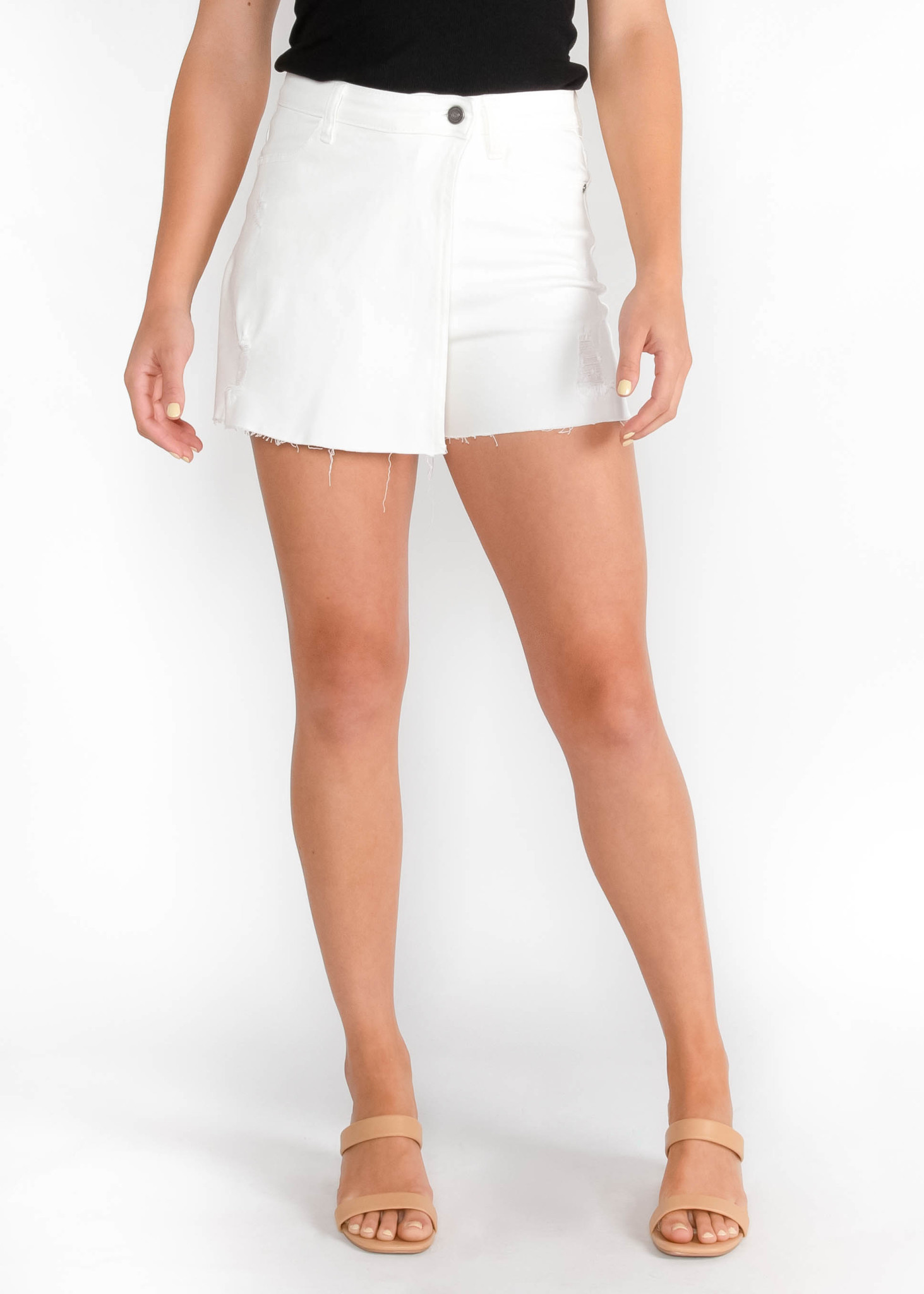 SUMMER CRUSH WHITE DENIM SKORT