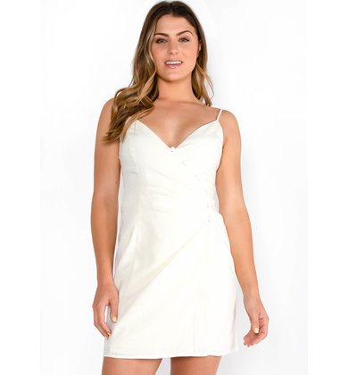 SALTWATER IVORY WRAP DRESS