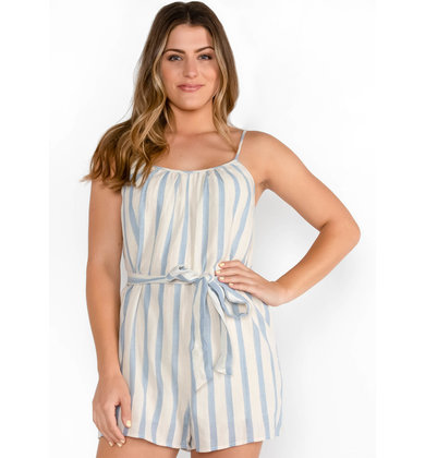 NAVY PIER STRIPED ROMPER