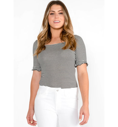 SHAKEN + STIRRED STRIPED TOP