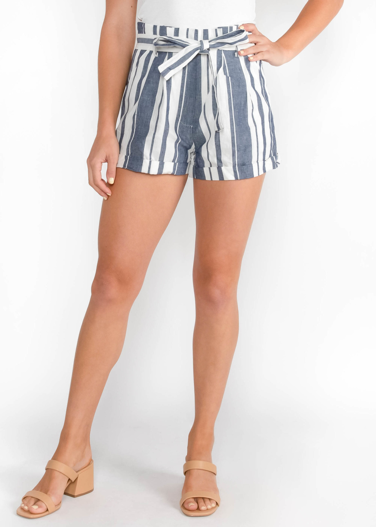 FOLLOW THE SUN STRIPED SHORTS