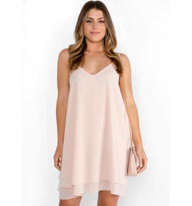 SWEET ESCAPE BLUSH SHIFT DRESS