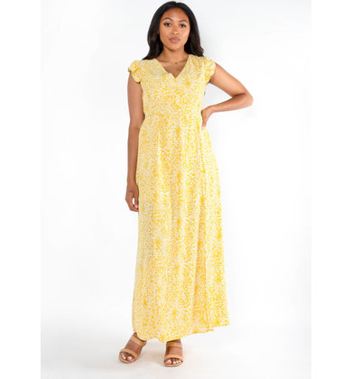LEMON DROP FLORAL MAXI DRESS