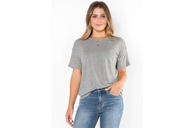 KICK BACK GREY LIGHTWEIGHT T-SHIRT