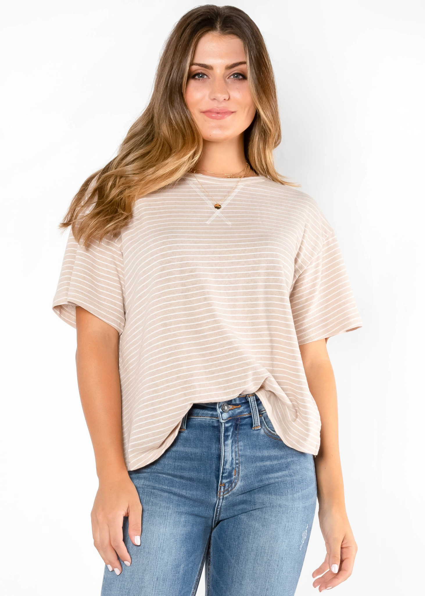 VACAY ALL DAY STRIPED TOP