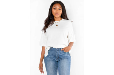 CABIN COZY WHITE RIBBED TOP