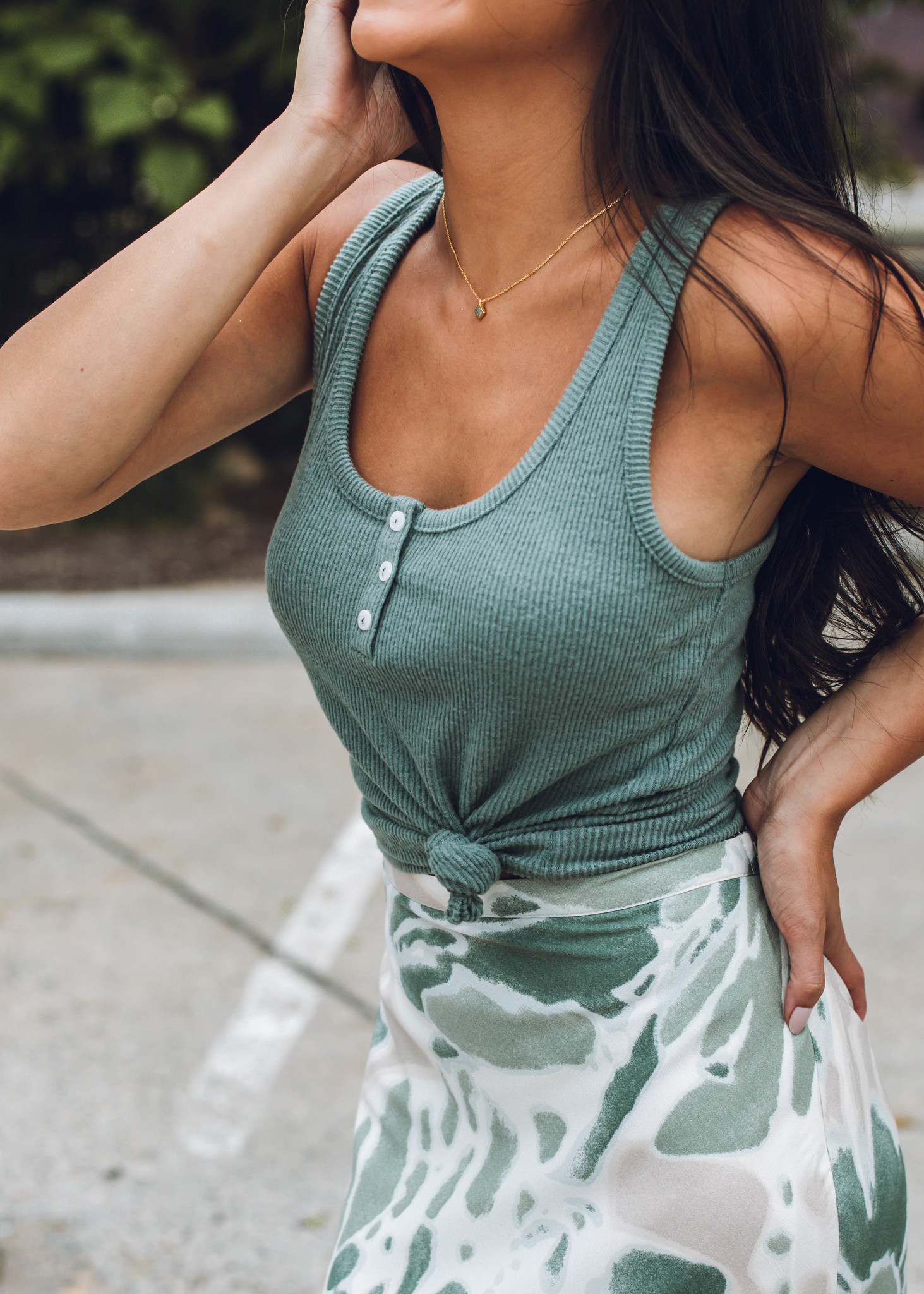 MUST ADVENTURE RIBBED TANK TOP