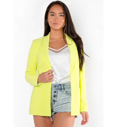 TWISTS + TURNS NEON BLAZER - LIME
