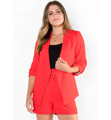 TRIPLE THREAT RED BLAZER