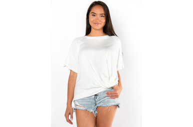 YOUR TYPE FRONT TWIST TOP - IVORY