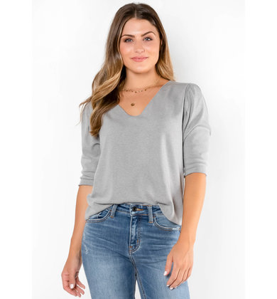 NO PLACE LIKE HOME GREY TOP