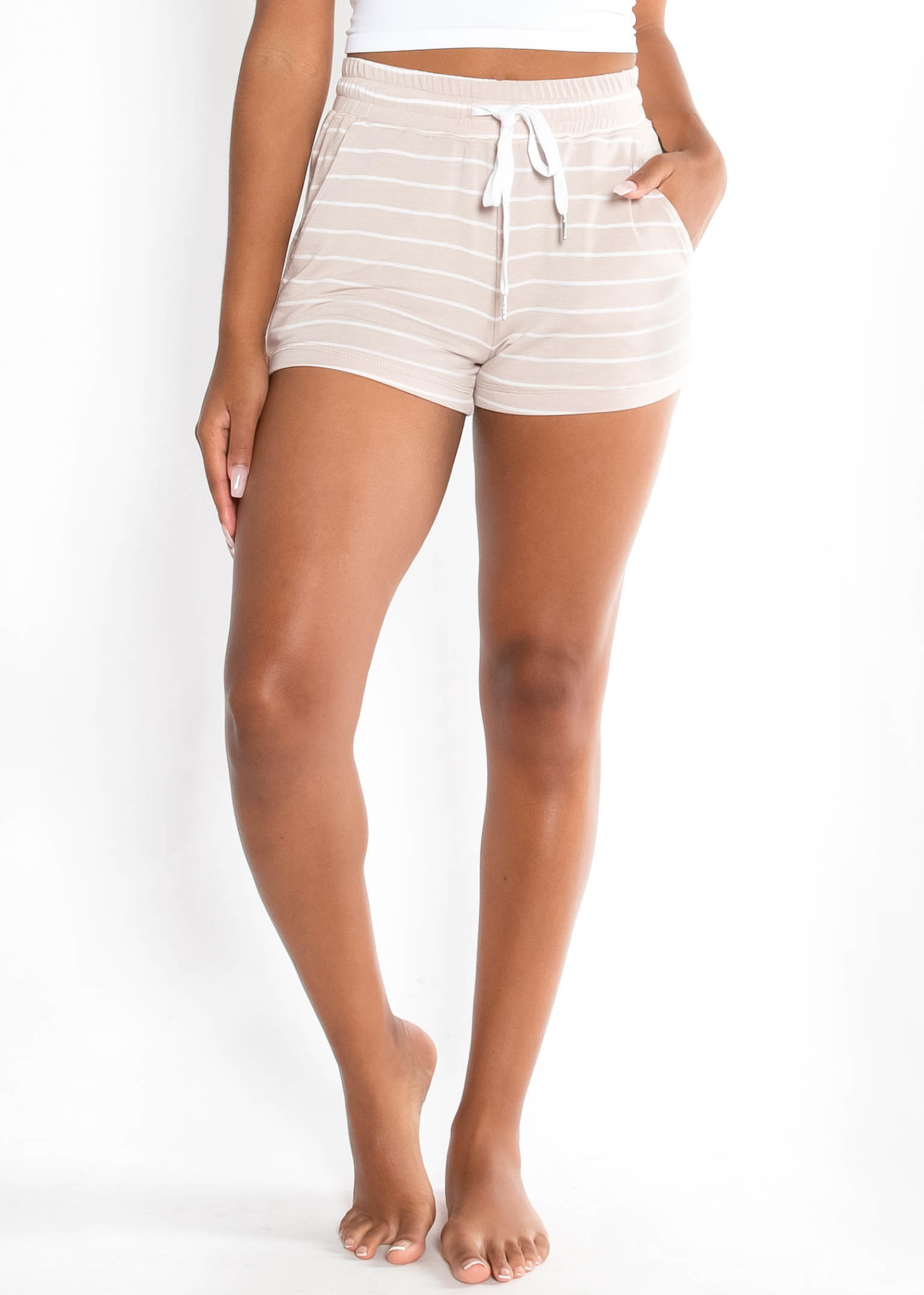 LIFE OF EASE STRIPED SHORTS