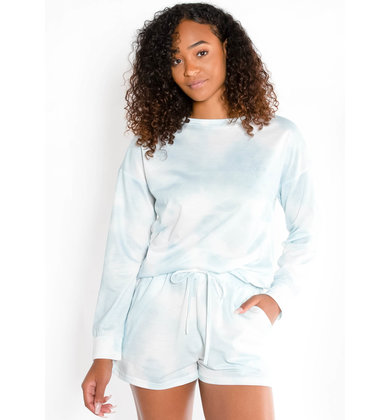 CLOUD NINE TIE DYE LONG SLEEVE TOP