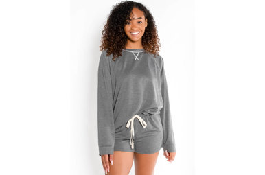 HIT SNOOZE TOP - CHARCOAL