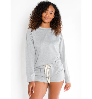 HIT SNOOZE TOP - GREY