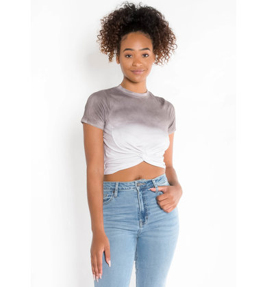 BREAKAWAY OMBRE CROP TOP - MAUVE