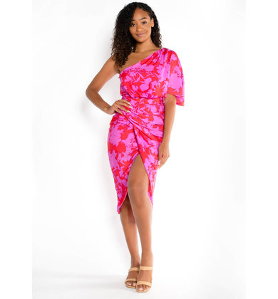 SUNSET DREAMS RUCHED DRESS