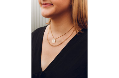 TUSCANY DUAL GOLD NECKLACE