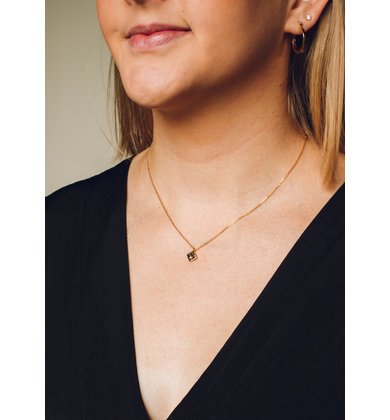 FULL MOON NECKLACE - BLACK