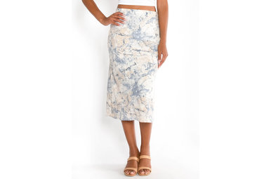 FIRECRACKER PRINTED MIDI SKIRT