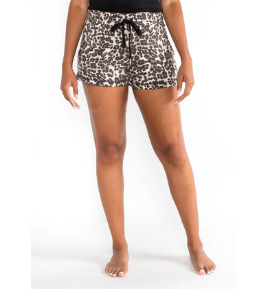 SIESTA TIME LEOPARD SHORTS
