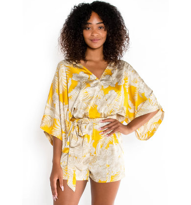 GOLDEN MEADOW PRINTED ROMPER