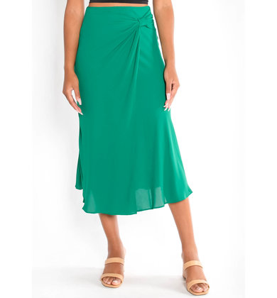 DREAM GIRL DRAPED MIDI SKIRT