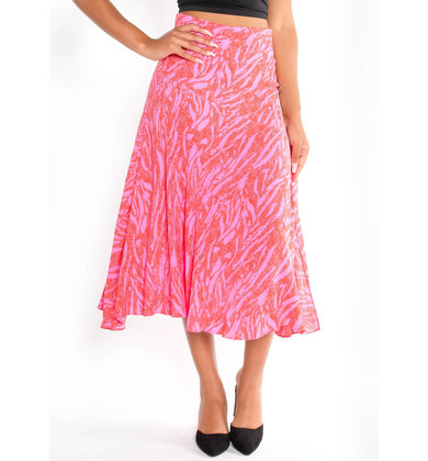 EASY TO LOVE PRINTED MIDI SKIRT