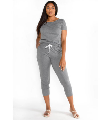 SIRENA JUMPSUIT - CHARCOAL