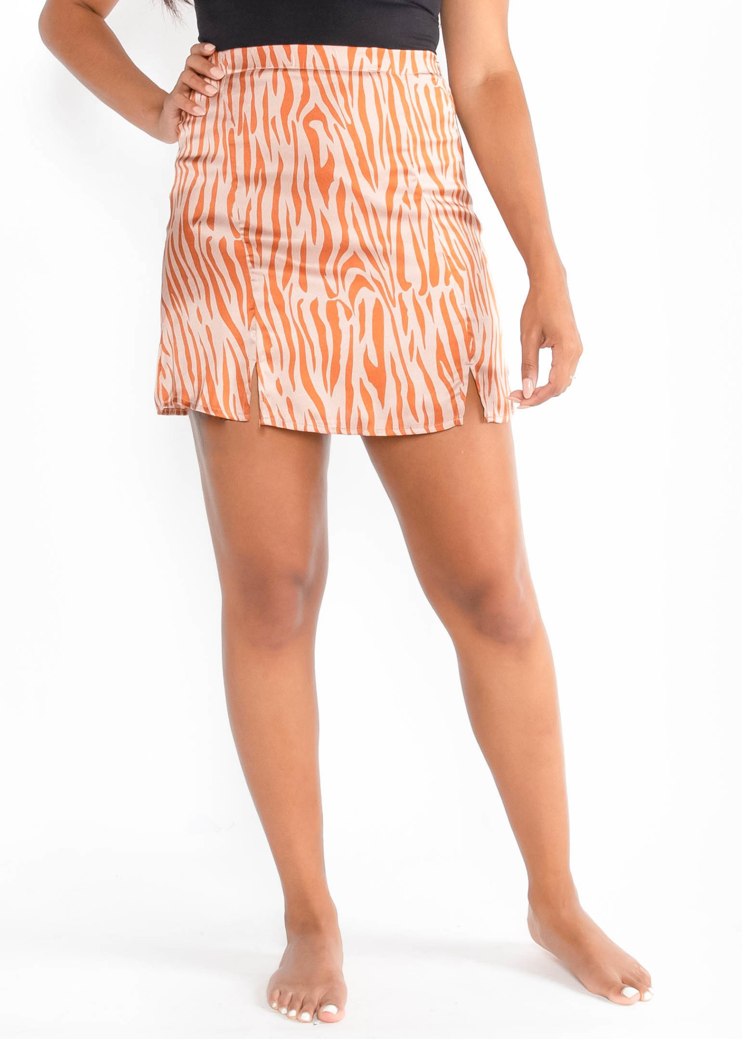 MOCKTAIL PRINTED MINI SKIRT