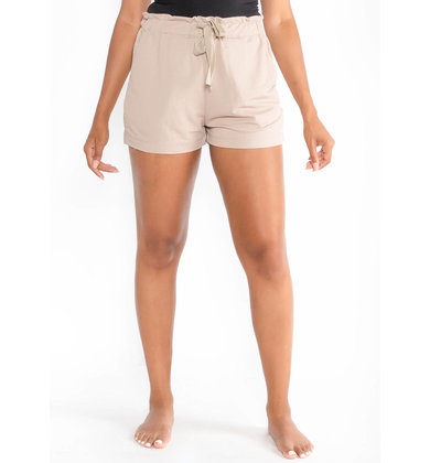 LET'S TRAVEL TAUPE SHORTS
